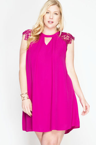 Lessons In Love Dress - Magenta