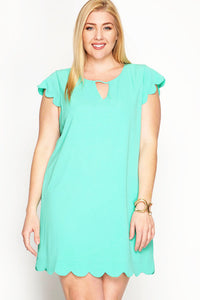 Spring Is In The Air Shift Dress - Soft Jade