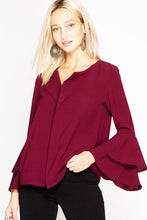 Swept Away Blouse - Wine