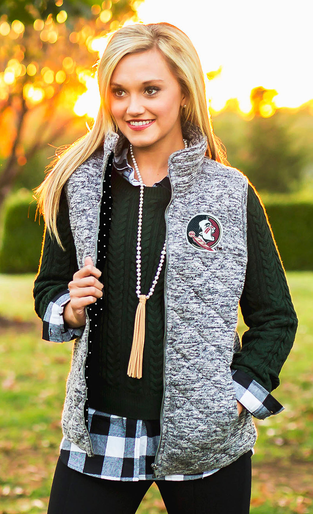 Game Day Chic | Quilted Vest - Florida State University