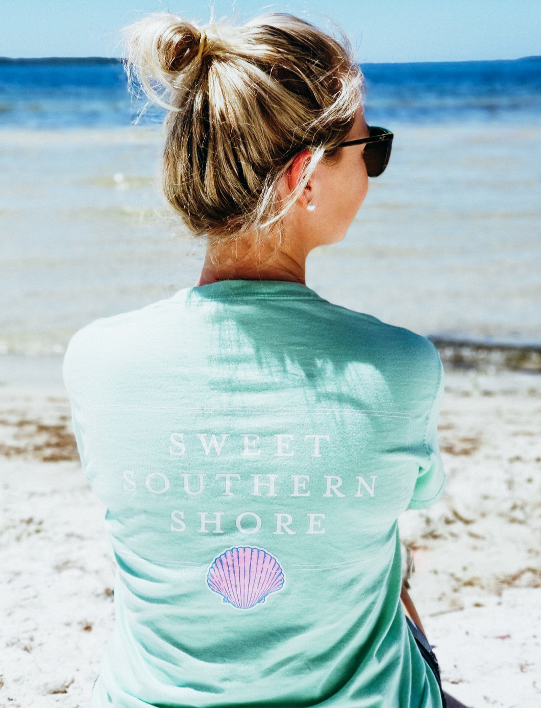 Sweet Southern Shore Collection Pocket Tee | Short Sleeve | Sea Foam Green