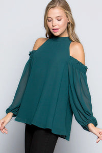 Follow Your Heart Blouse - Hunter Green