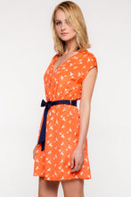Fly Away With Me Dress - Coral & Navy