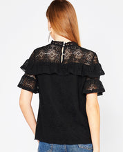 Find A Way Lace Top -  Black