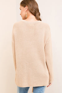 Our Hearts Collide Sweater - Taupe