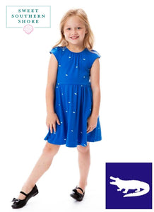 Chomp Gator Dress - Girls