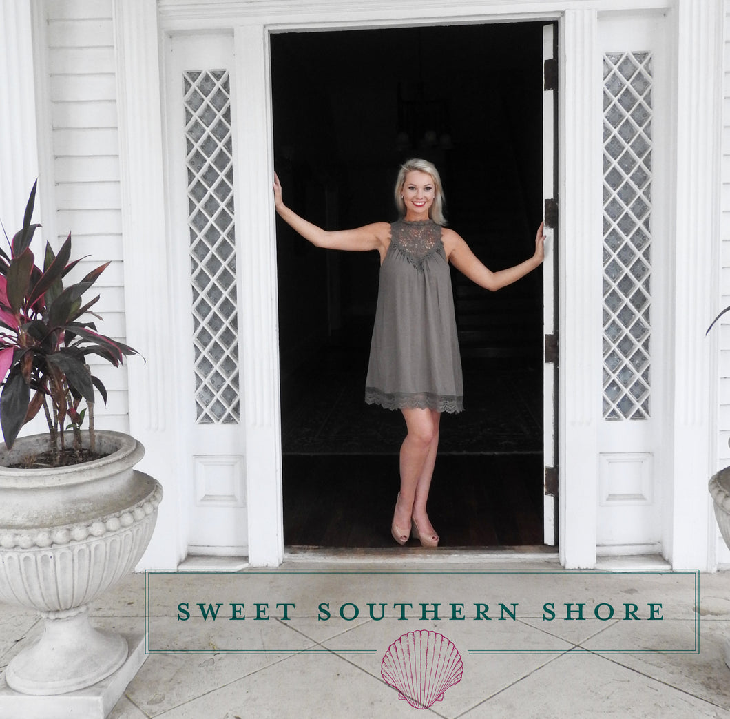 Speak Softly To Me Dress - Olive