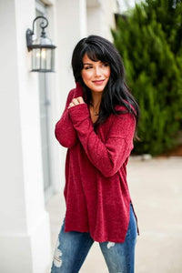 Cozy Nights Sweater - Wine