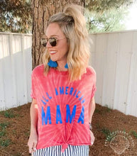 All American Mama - Acid Wash Tee