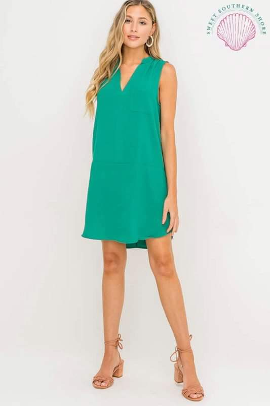 Make Your Move Shift Dress - Lake Teal