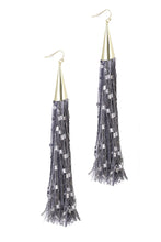 Studio 54 Long Tassel Statement Earrings - Multiple Colors Available