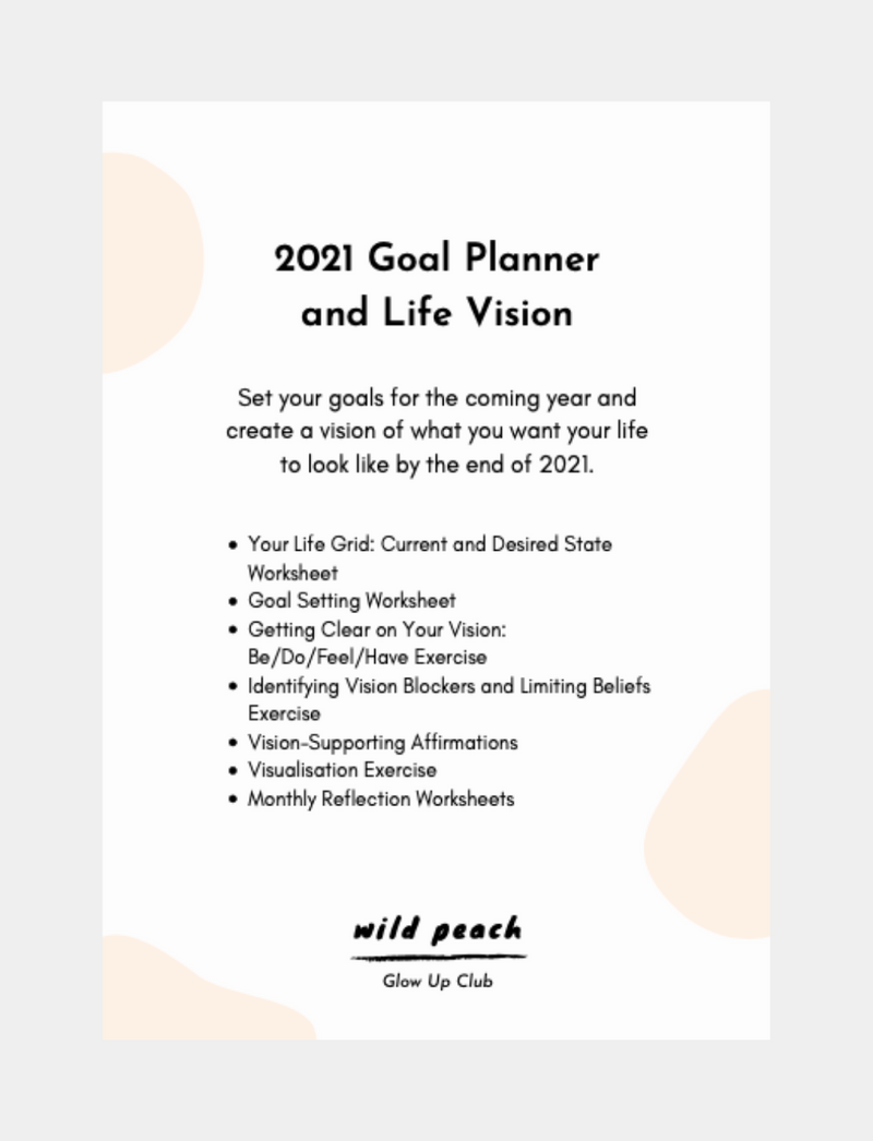 2021 Goal and Vision Planner / PDF WILD PEACH
