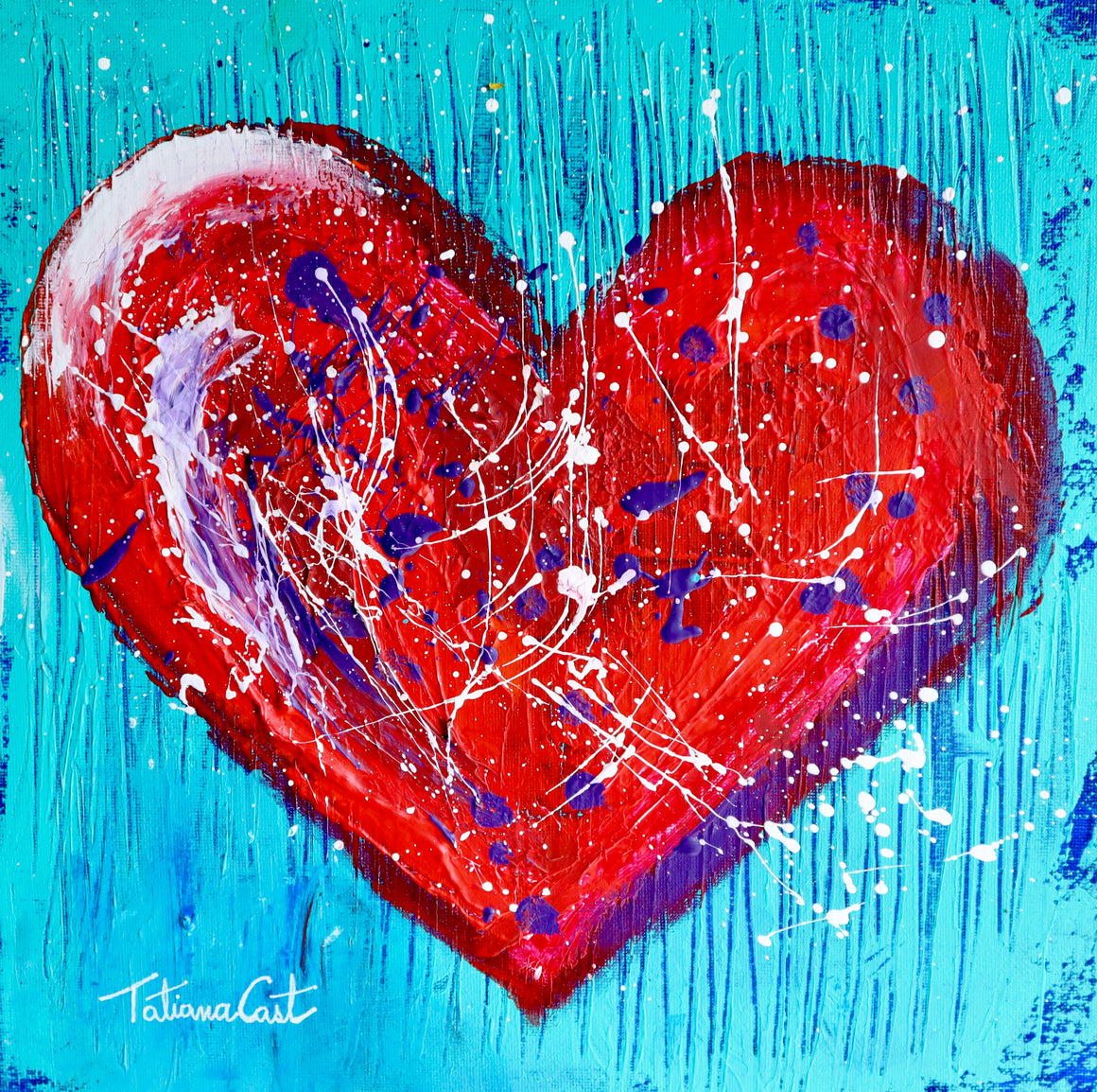 """Colorful Heart 1"" Limited Edition -Various Sizes"