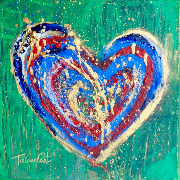 """Colorful Heart 5"" Limited Edition -Various Sizes"