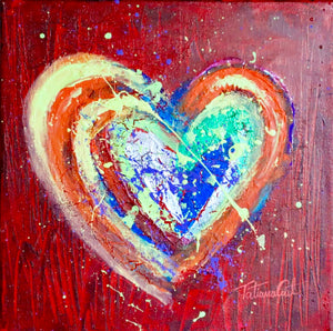 """Colorful Heart 4"" Original Painting"