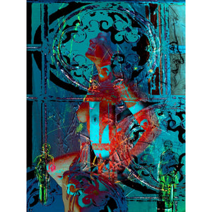 "'Goddess'  Digital Collage Limited Edition Fine Art Painting 48"" x 36"""