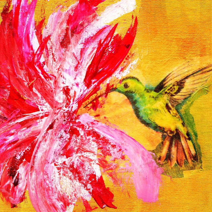 'Hummingbird 2' Hand-Embellished Limited Edition