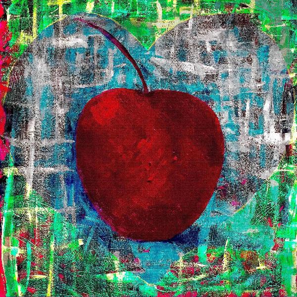 "'Heart Series 4'  Digital Collage Limited Edition Fine Art Painting 24"" x 24"""