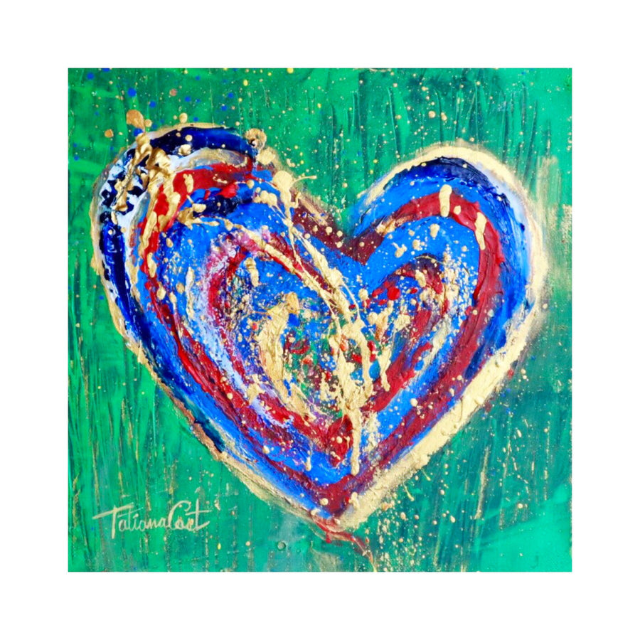 """Colorful Heart 5"" Original Painting"