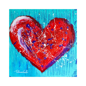 """Colorful Heart 1"" Original Painting"