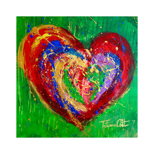 """Colorful Heart 2"" Original Painting"