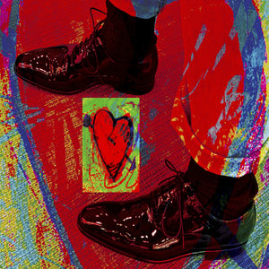 'Shoes & Hearts' Digital Collage Limited Edition Fine Art Painting