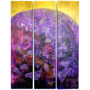 'Purple World' Original Painting Triptych
