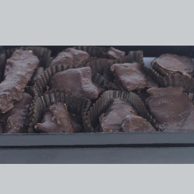 Crystallized Ginger Hand-Dipped in Dark Chocolate