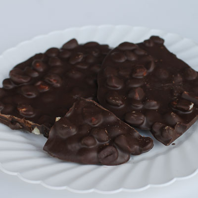 Kona Coffee Bean Bark and White Chocolate Macnut Bark