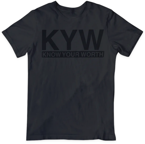 Know Your Worth T-shirt (Black/Black)