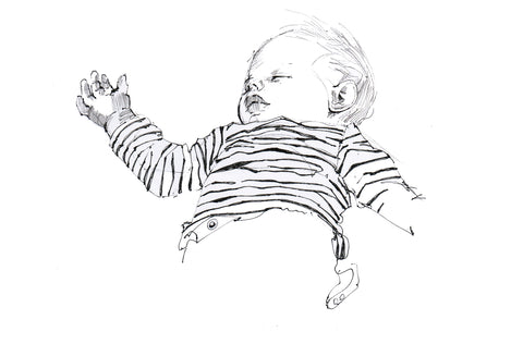 portrait sketch of a sleeping child about face illustration drawing painting commission