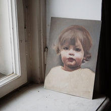 Oil portrait on a rectangle canvas (painted from a photograph) - About Face Illustration