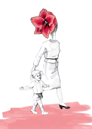 Mother Flower Card - About Face Illustration