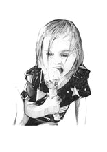 Child illustration in ink - About Face Illustration