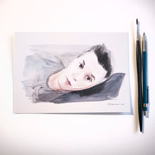 Watercolour portrait - About Face Illustration