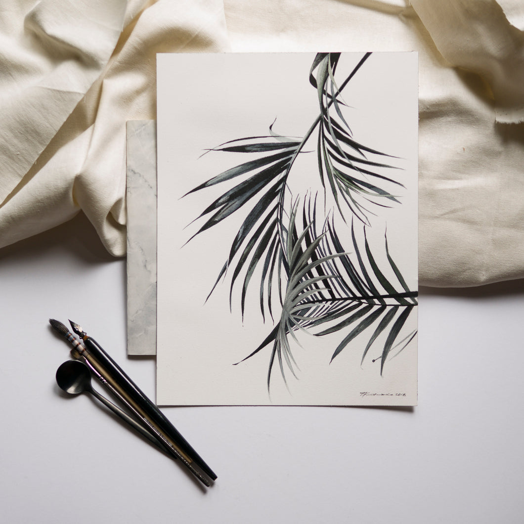 Palm Tree Watercolour Print