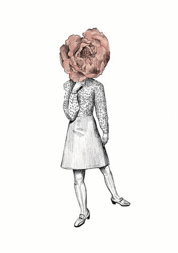 Peony Greeting Card - About Face Illustration