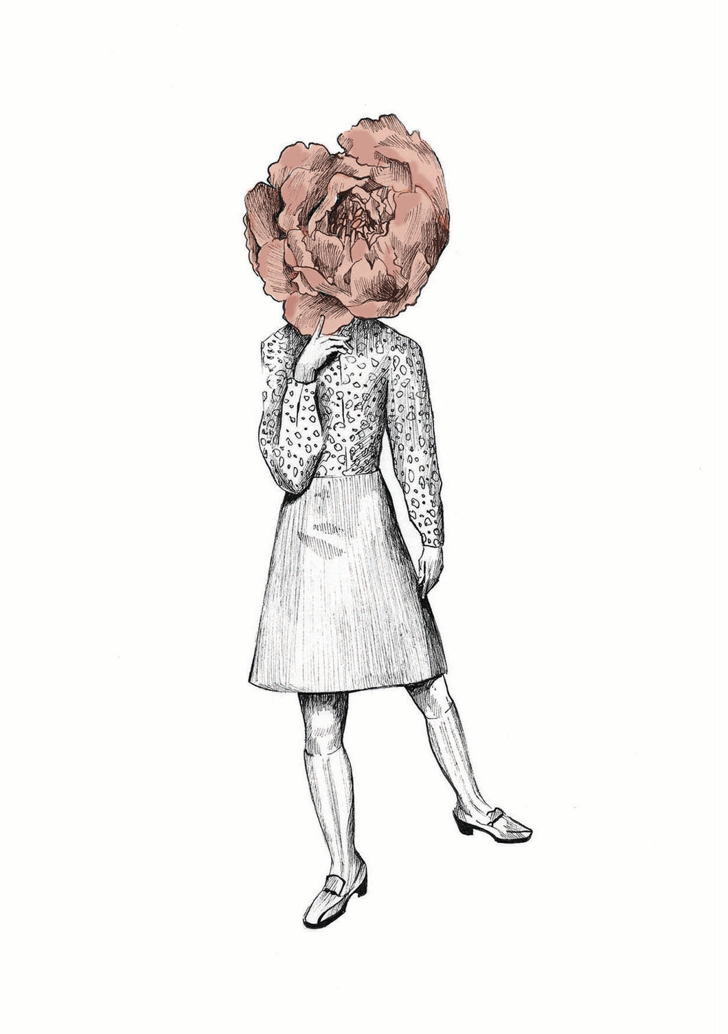 Peony Fine Art Print - About Face Illustration