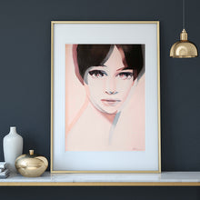 Anna Karina oil painting reproduction - About Face Illustration