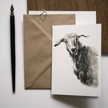 Ram Greeting Card - About Face Illustration