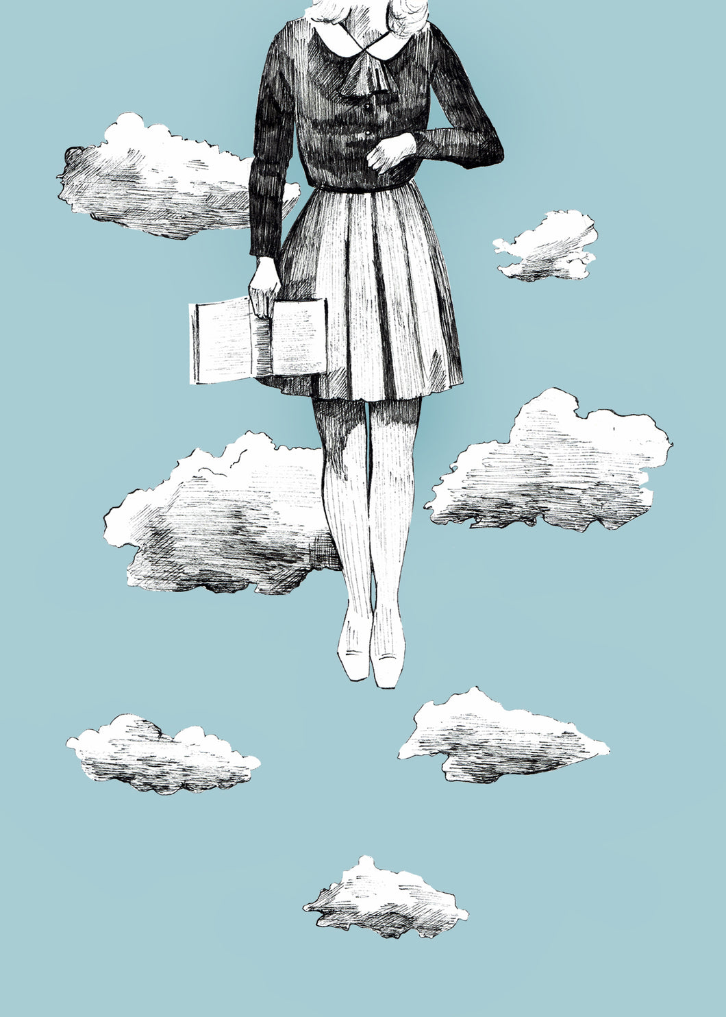 Clouds Greeting Card - About Face Illustration