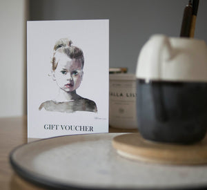 Gift Voucher for a custom portrait - About Face Illustration