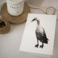 Goose Greeting Card - About Face Illustration
