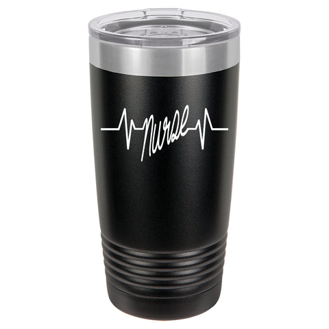 Nurse Heartbeat Vacuum Insulated Tumbler w/Clear Lid