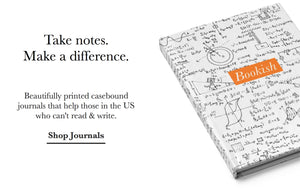 Take notes and make a difference. Beautifully printed casebound journals that help those in the US who can't read & write.