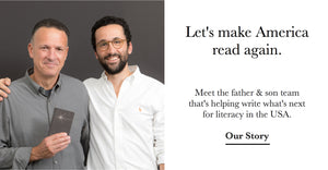 Let's make America read again. Meet the father and son team that's helping write what's next for literacy in the USA.