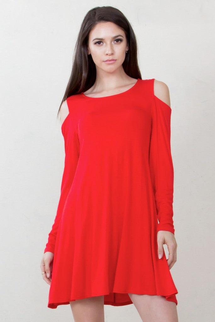 red-christmas-dress-with-shoulder-cutouts-front