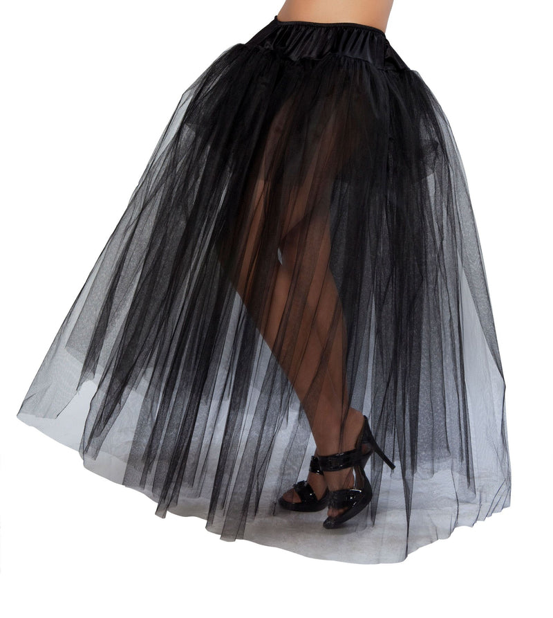 Adult-Women's-Full-Length-Black-Petticoat-Halloween-Party-Costume-Accessory