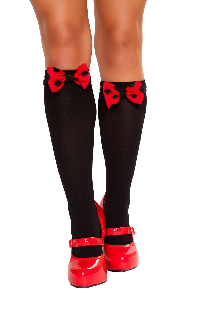 Adult-Women's-Miss-Mouse-Black-Stockings-Costume-Party-Accessory