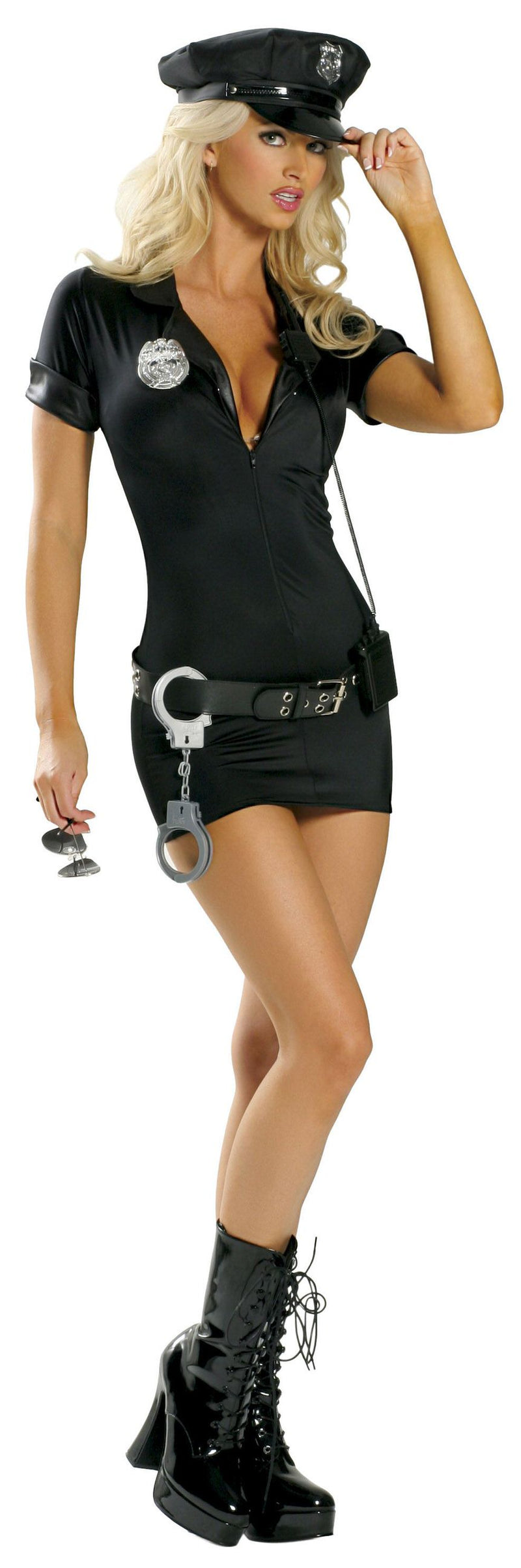 7-Piece-Police-Officer-Cop-Mini-Dress-w/-Accessories-Party-Costume